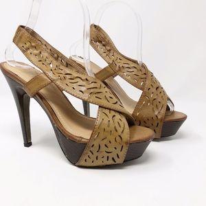 YOKI Brown Heeled Sandals in EUC - Size 7